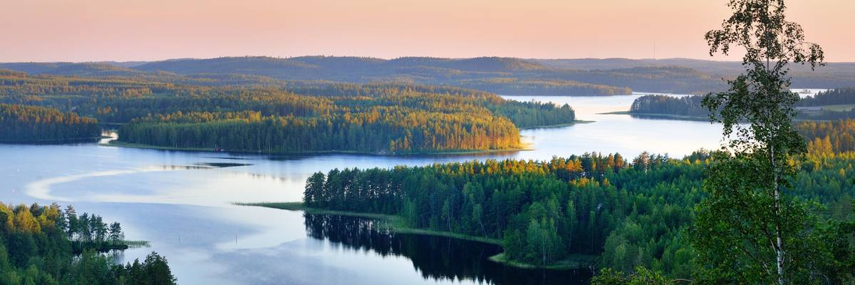 Landscape of Saimaa Lake, Finland