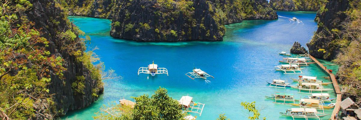 Landscape of tropical island. Coron island. Philippines