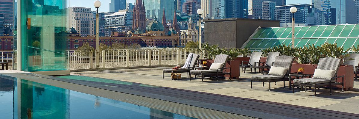 Langham Hotel roof-top pool