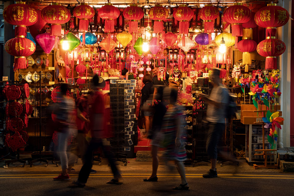 Shop selling lanterns