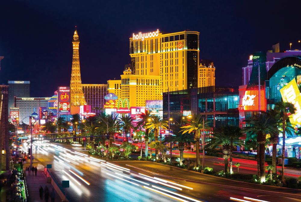 Lights on the strip at Las Vegas, Nevada