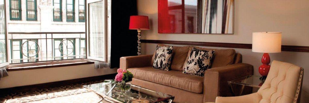 Guest suite at Le Saint Sulpice