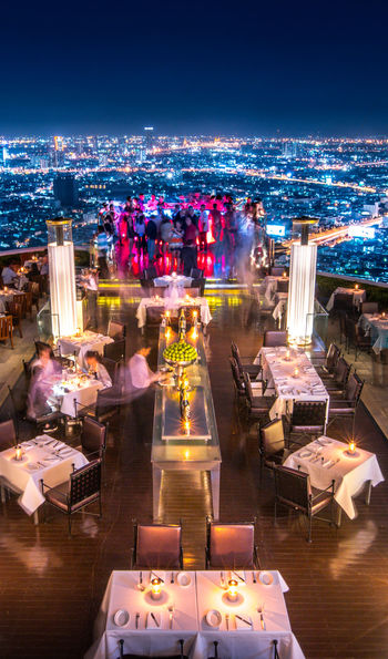 Rooftop restaurant, Lebua at State Tower