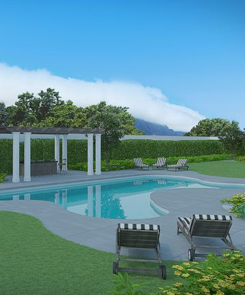 Pool at Leeu House, Franschhoek