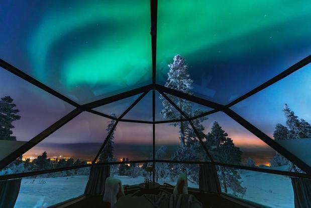 Levin Iglut glass igloss, Finnish Lapland
