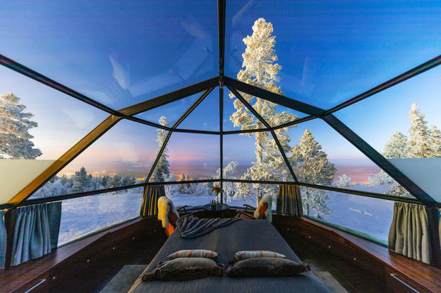 View from a glass igloo at Levin Iglut, Finnish Lapland
