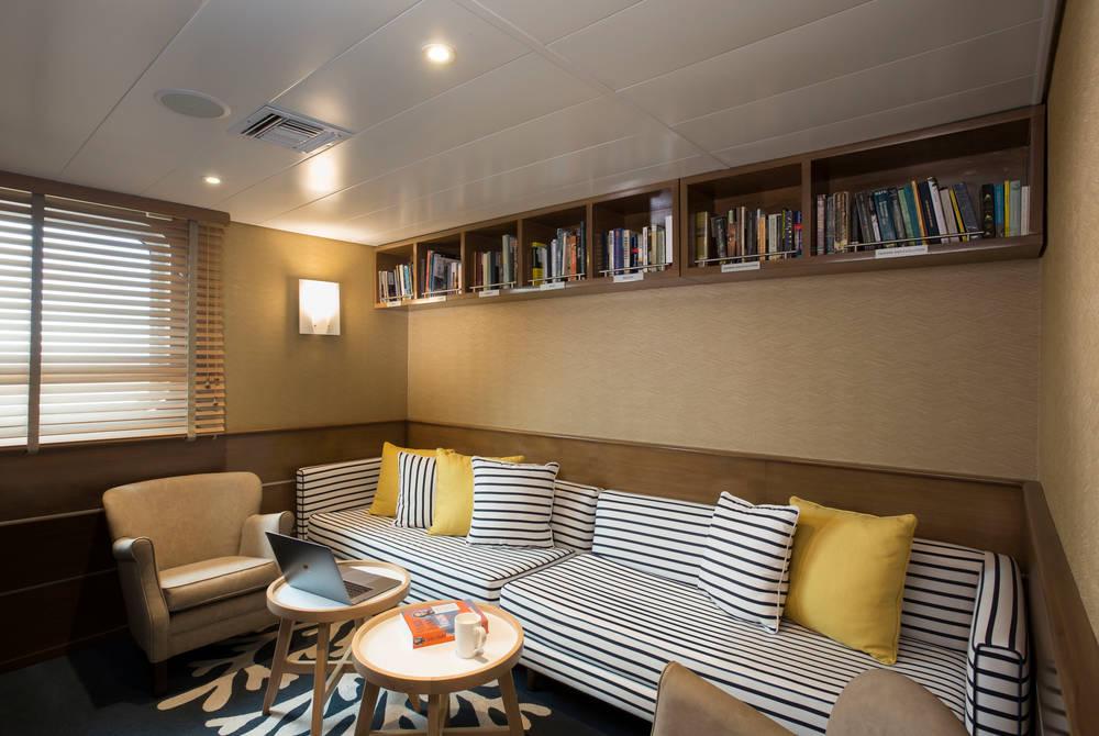 Library, Isabela II Yacht, Galapagos