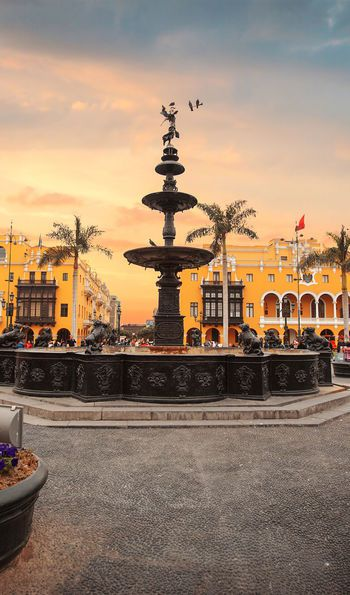 Bronze Fountain, Lima, Peru