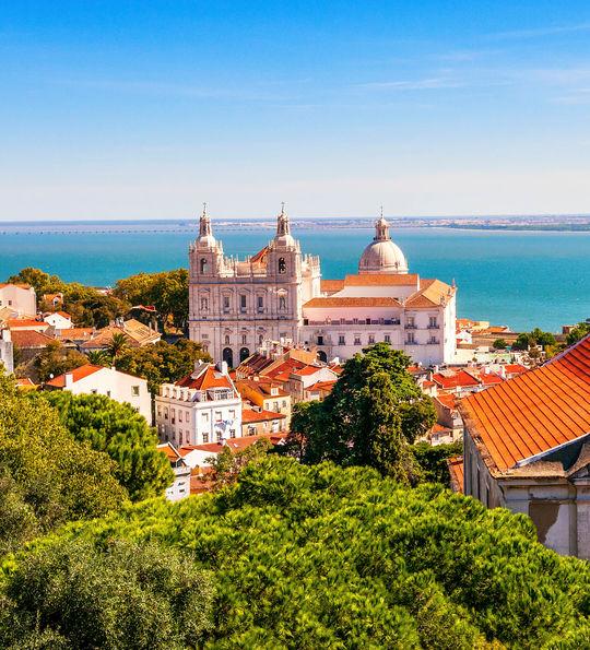 Lisbon's old-town skyline
