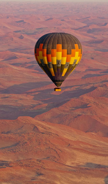 Hot air balloon above Sossusvlei