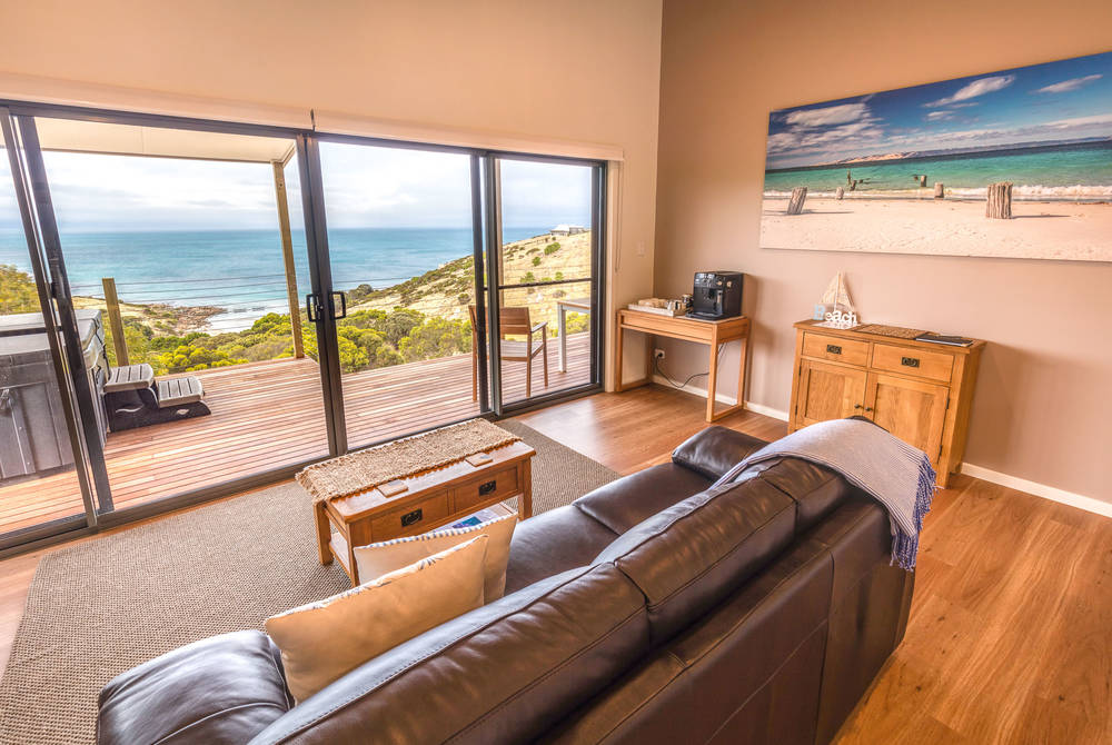 Living Area, Sea Dragon Lodge, Kangaroo Island, Australia