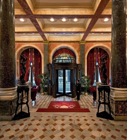 Lobby at Pera Palace, istanbul