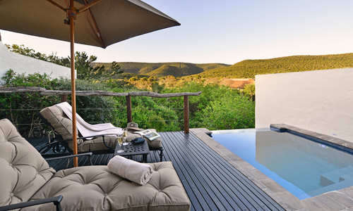 Lobengula Lodge - mini suite pool deck