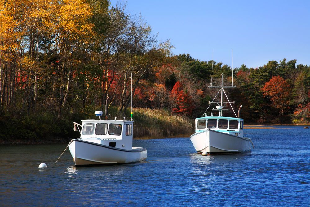 Lobster Boats at Kennebunkport, Maine