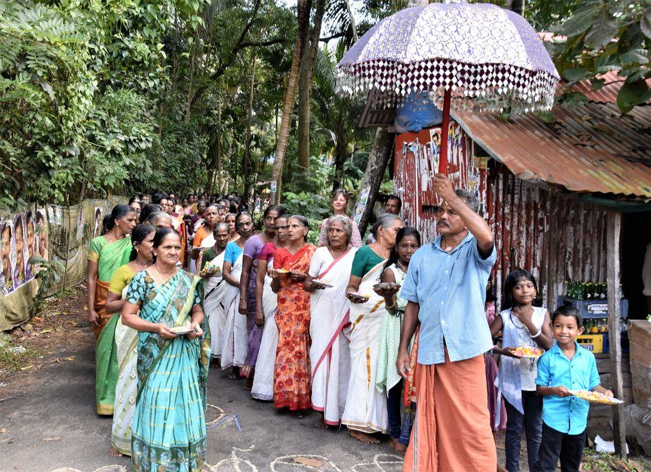 Local wedding celebration at Vaikom, Kerala, India