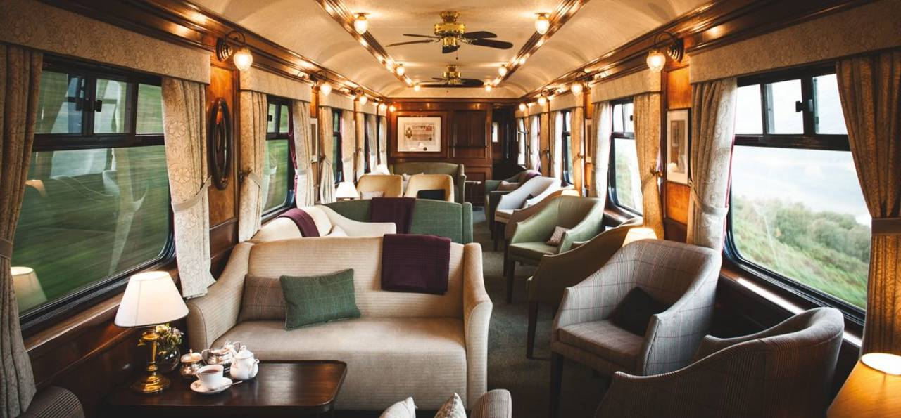 Lounge, Belmond Royal Scotsman