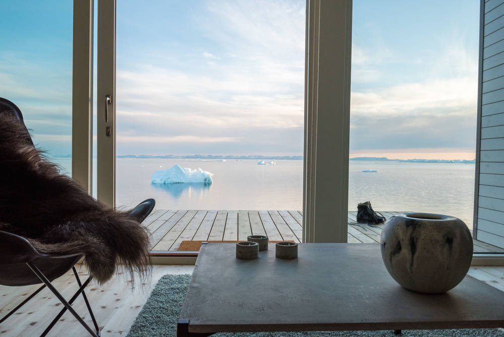 Lounge at Ilimanaq Lodge, Ilulissat Icefjord