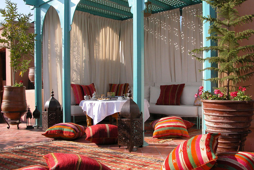 Outdoor area and terrace at Riad Kniza Marrakech
