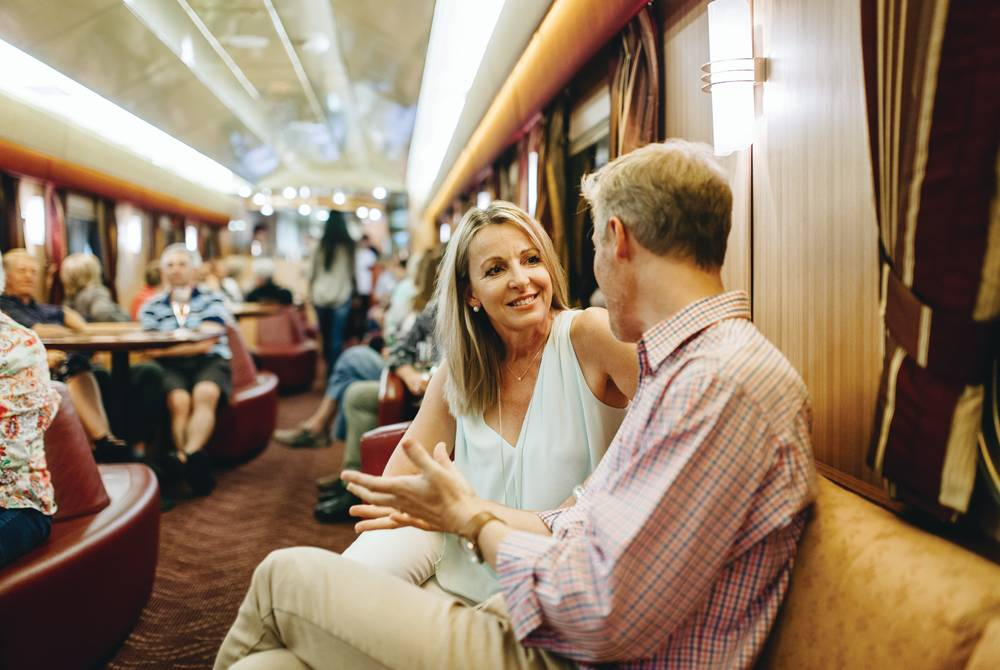 Lounge aboard the Indian Pacific