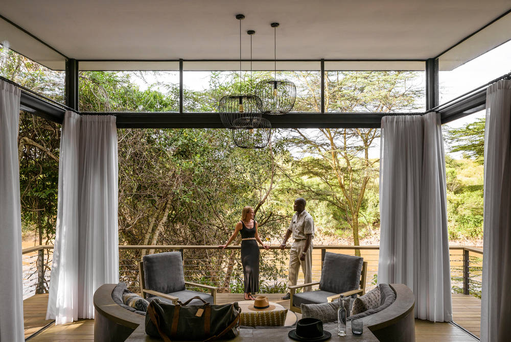 Lounge area, Sanctuary Olonana, Kenya