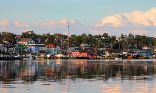 Lunenburg harbour, a UNESCO world heritage site