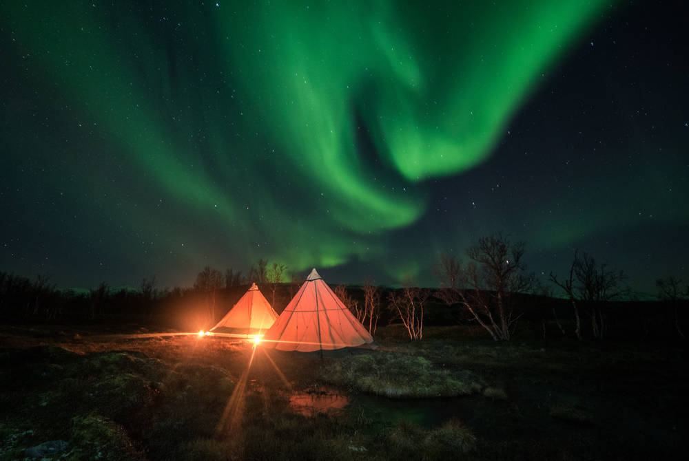 Wilderness Teepee Break in Finnish Lapland