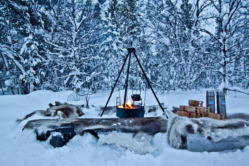 Open Fire Cooking, Lyngen Lodge