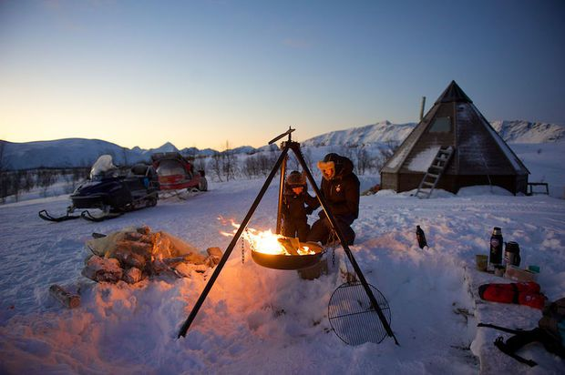 Ice fishing with Lyngen Lodge in Arctic Norway