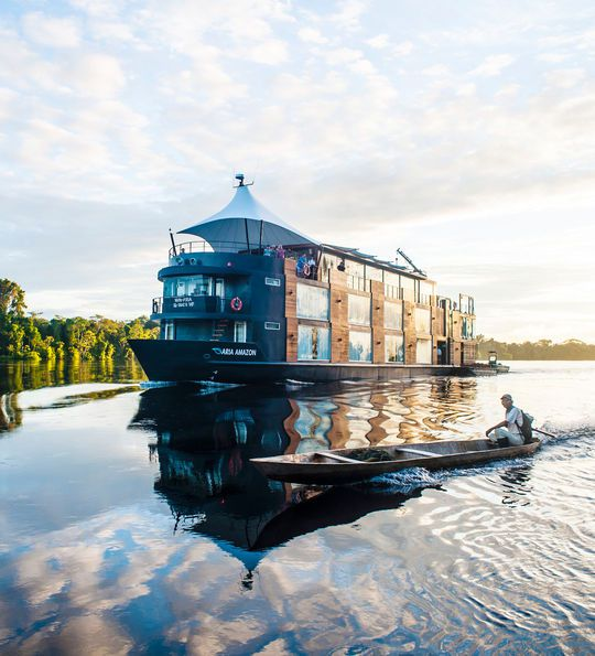The MV Aria Amazon sailing the Amazon River
