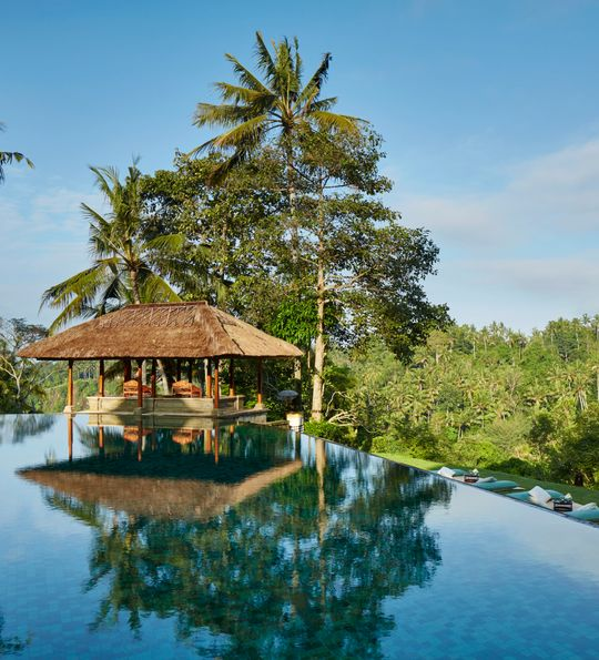 Main pool, the Amandari, Ubud – one of Bali's, and Southeast Asia's, finest resorts