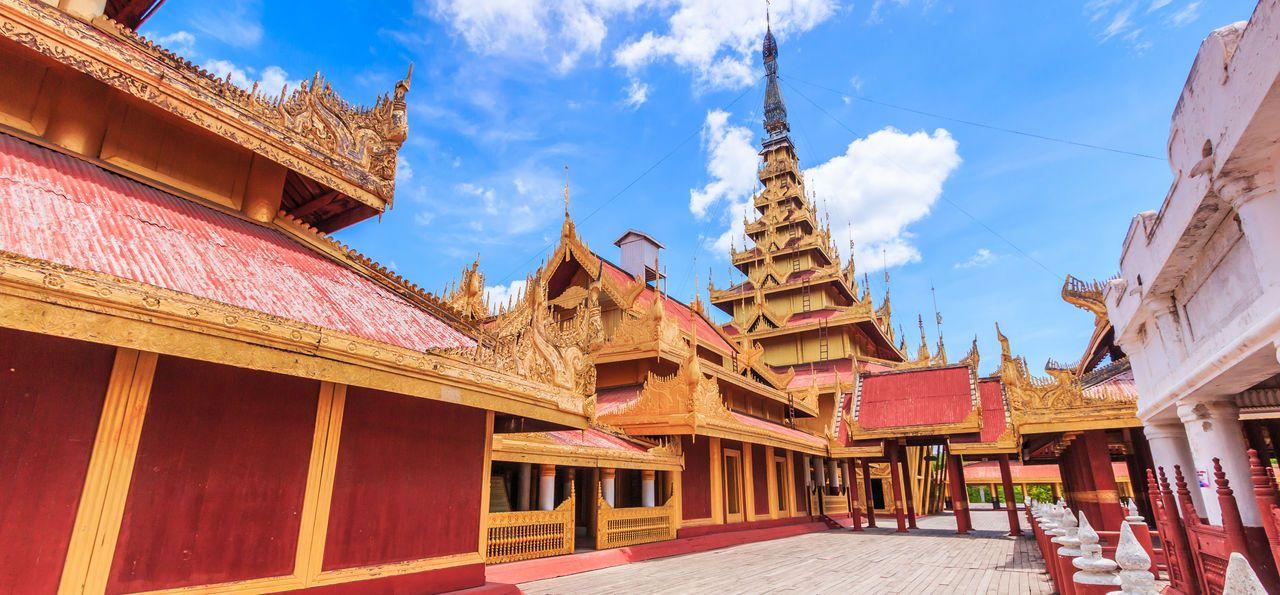 Mandalay Palace in Mandalay, Burma