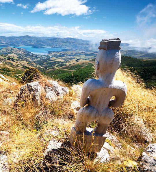Maori Statue, Akaroa, New Zealand
