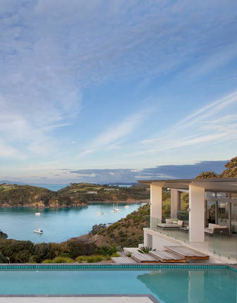 Pool view from Marino Ridge, Waiheke Island