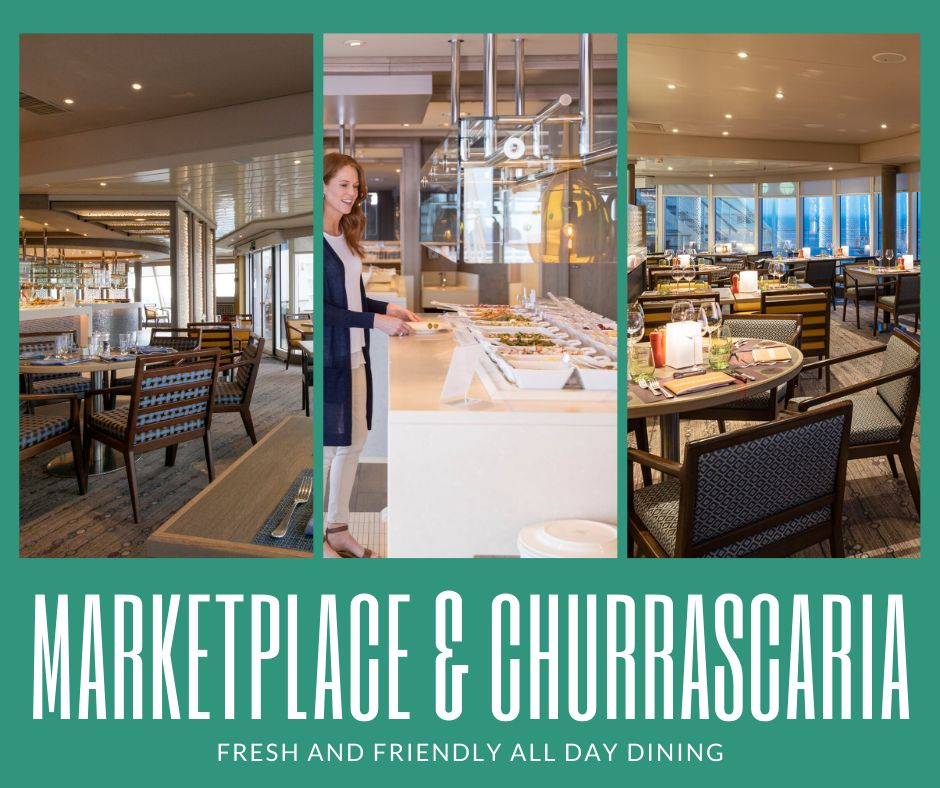 Marketplace and Churrascaria Restaurant on Crystal Cruises