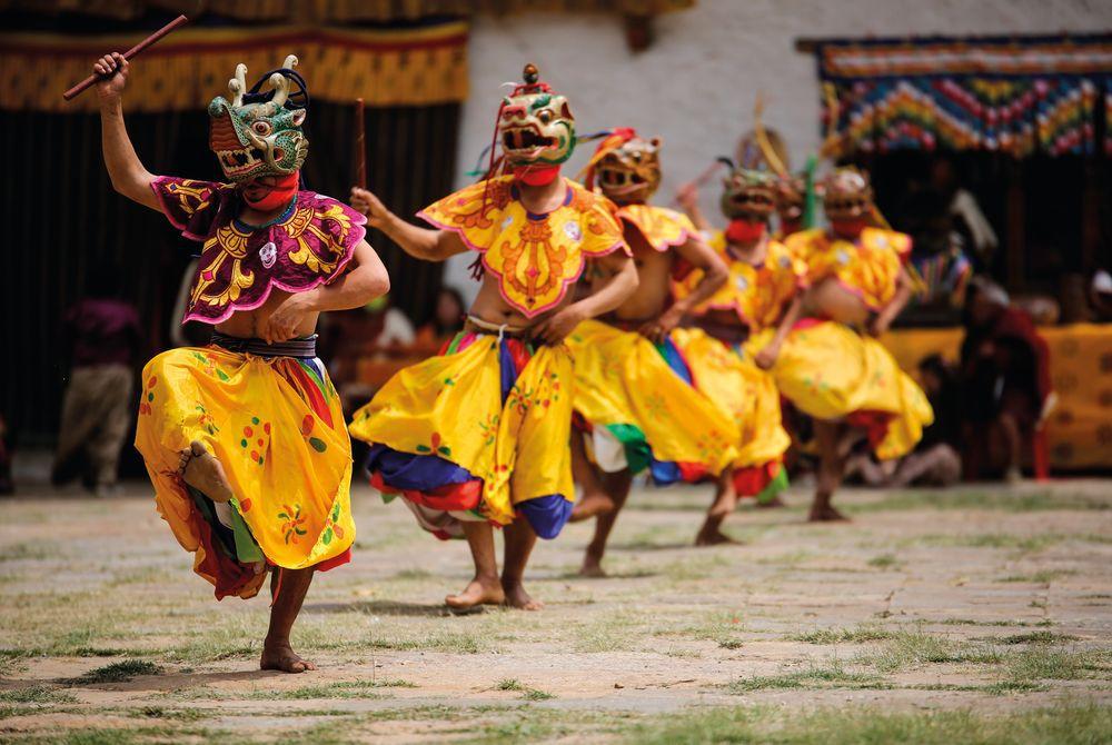 Masked Dancer, Punakha, Bhutan