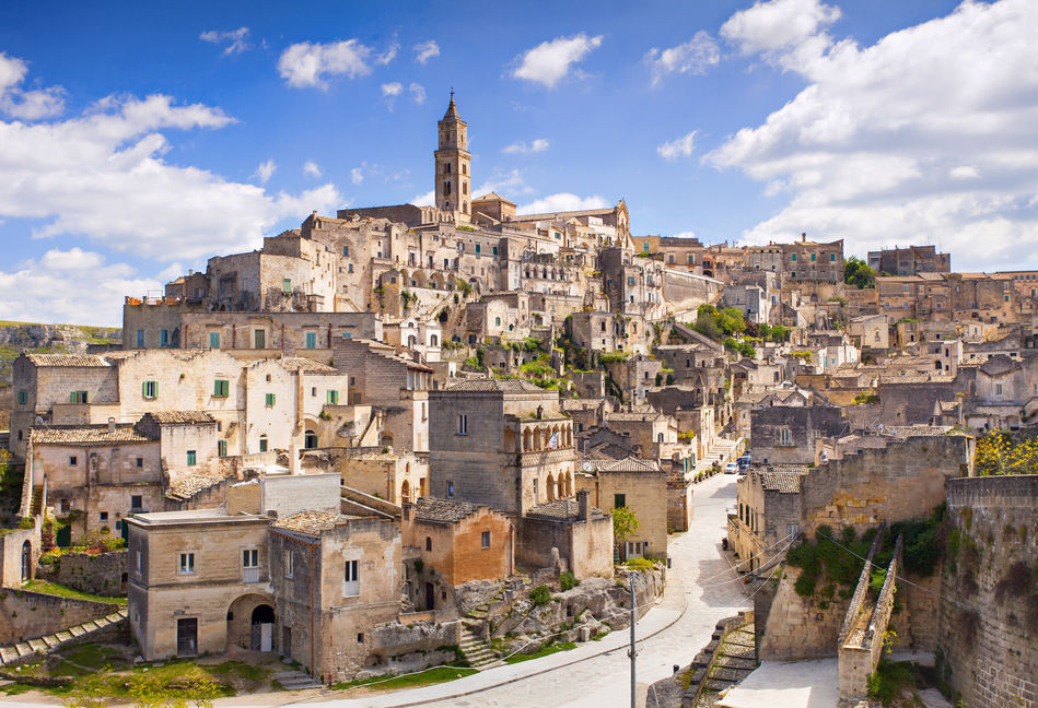 the hilltop town of Matera, Puglia