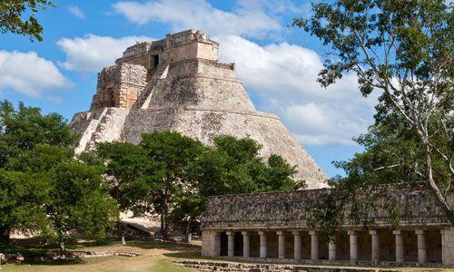 Maya Pyramid of the Magician, Uxmal, Yucatan, Mexico