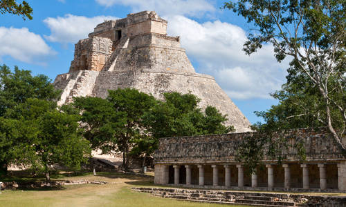Maya Pyramid of the Magician, Uxmal, Yucatan, Mexico
