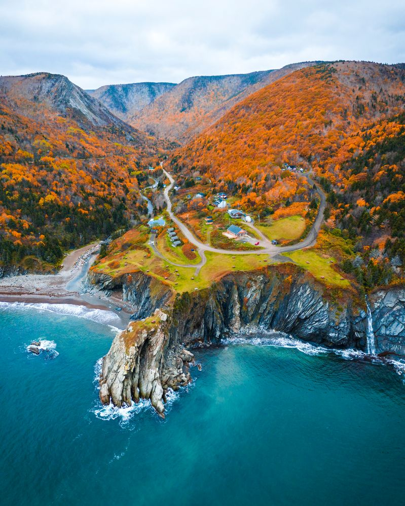 The Cape Breton Island's Meat Cove on the Cabot Trail