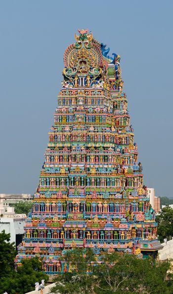 Meenakshi Sundareswarar Temple in Madurai Tamil Nadu