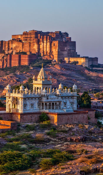 Looking out onto Mehrangarh Fort over Jodhpur, Rajasthan