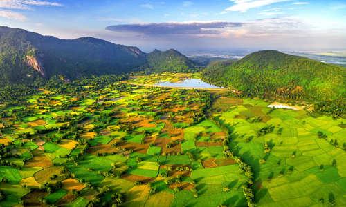 Mekong Delta, Tri Ton town, An Giang province, Vietnam