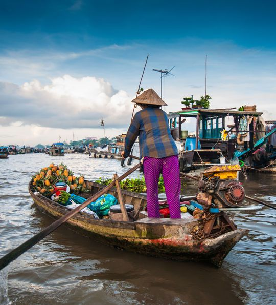 Floating markets on the Mekong Delta, Vietnam
