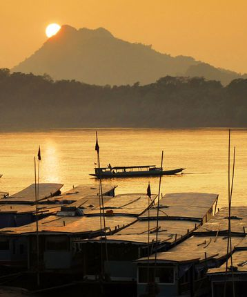 Sunset, Mekong River, Luang Prabang, Laos