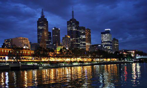 Melbourne by night, Melbourne, Victoria, Australia