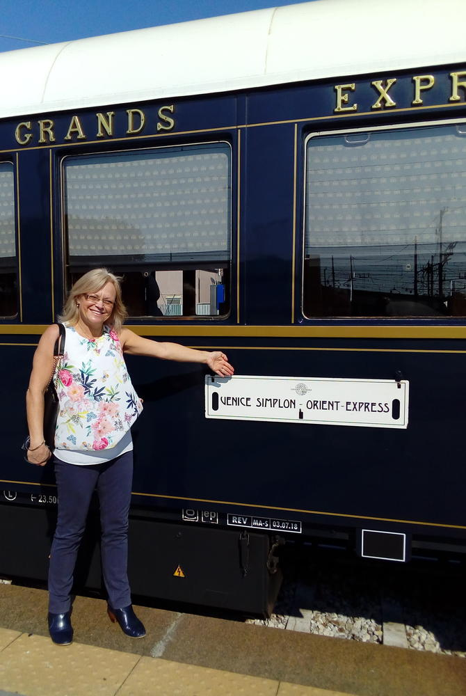 Meriel Lowe and the Venice Simplon-Orient-Express