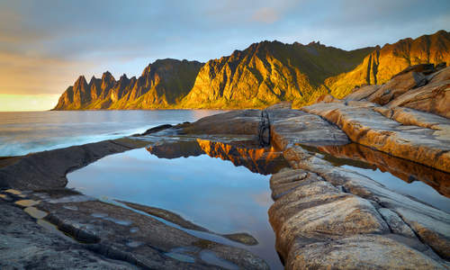 Midnight Sun on Senja, Norway