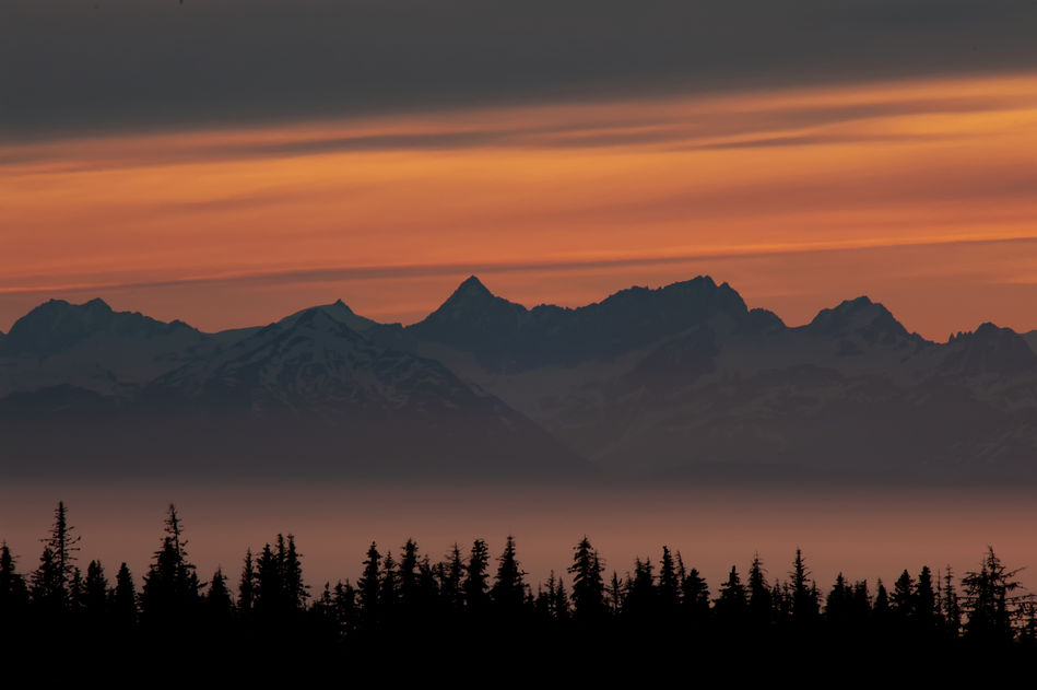Midnight Sun, Kachemak Bay, Cook Inlet, Alaska