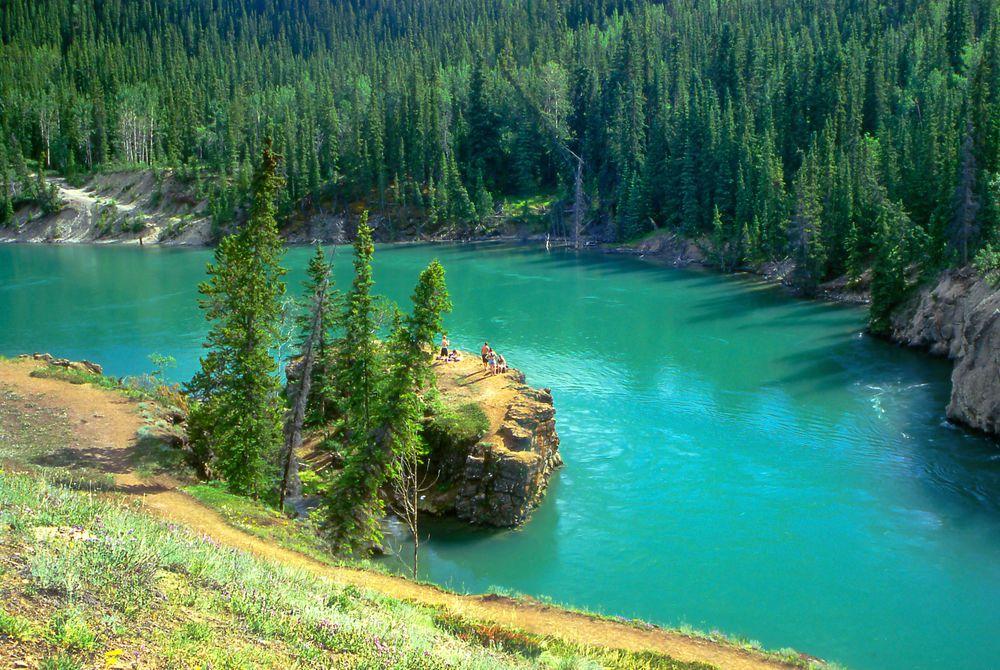 Miles Canyon near Whitehorse, The Yukon, Canada