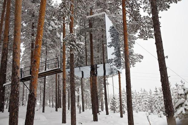 Mirrorcube at Treehotel in Swedish Lapland
